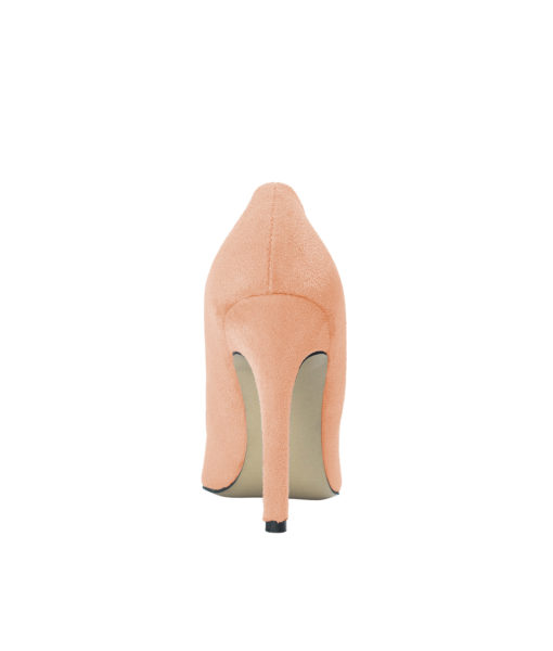AnnaKastle Womens Pointy Toe Suede Court Shoes Peach Pink