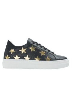 AnnaKastle Womens Star Cutout Sneakers Black