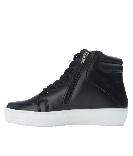 AnnaKastle Womens Star Studded High Top Sneakers Black