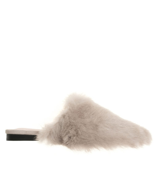 AnnaKastle Womens Faux Fur Covered Mules Pink