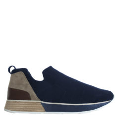 AnnaKastle Womens Comfort Felt Slip On Sneakers Navy