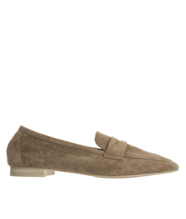 AnnaKastle Womens Soft Vegan Suede Penny Loafers Brown