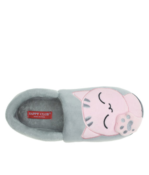 AnnaKastle Womens Cute Cat Kitty Paws Home Slippers Gray
