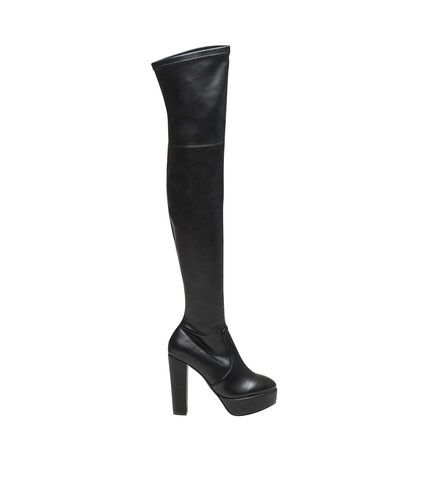platform over the knee high heel boots. Black Bedroom Furniture Sets. Home Design Ideas
