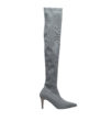 DDMykd024-Annakastle-Womens-Pointy-Toe-Stretch-Fabric-Thigh-High-Boots-Gray-01