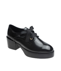 AnnaKastle Womens Lace Up Platform Oxford Pumps Black