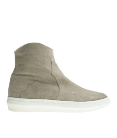 AnnaKastle Womens Faux Fur Lined Genuine Suede Sneaker Boots Beige