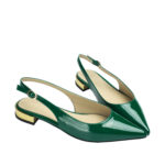 AQ031-AnnaKastle-Womens-Shiny-Faux-Patent-Slingback-Flats-Green-07
