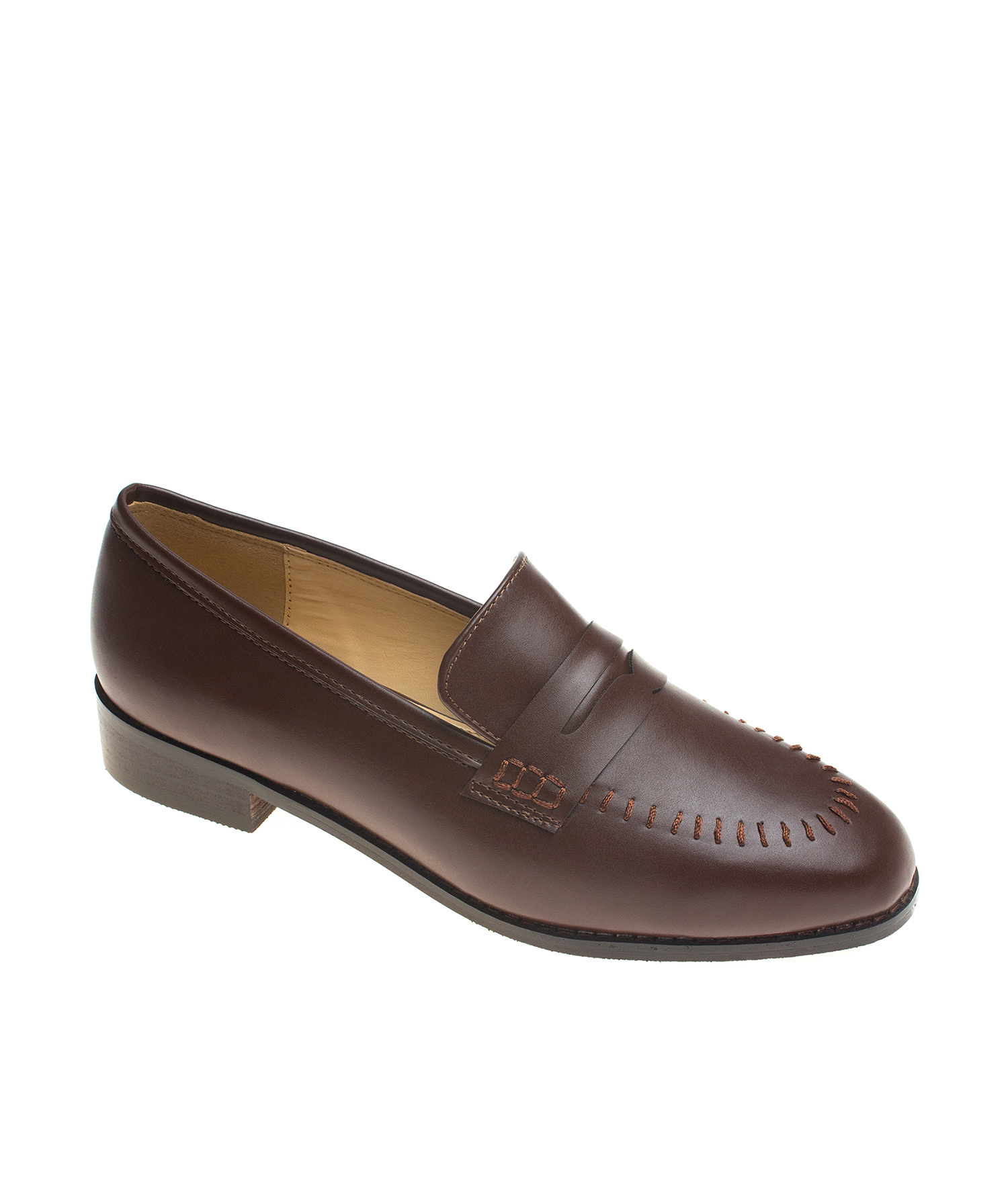 AnnaKastle Aida Vegan Leather Penny Loafers Brown