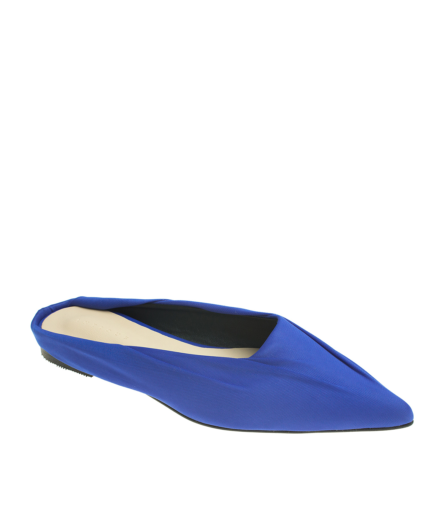 Pointy Toe Soft Fabric Covered Dress Mules ...