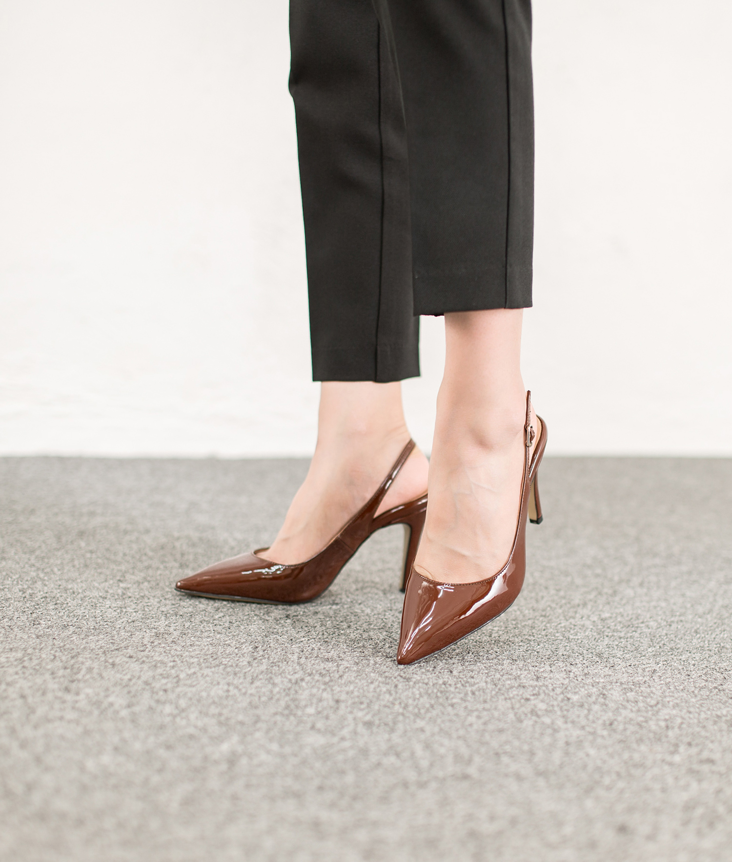 Dark Brown Patent Shoes