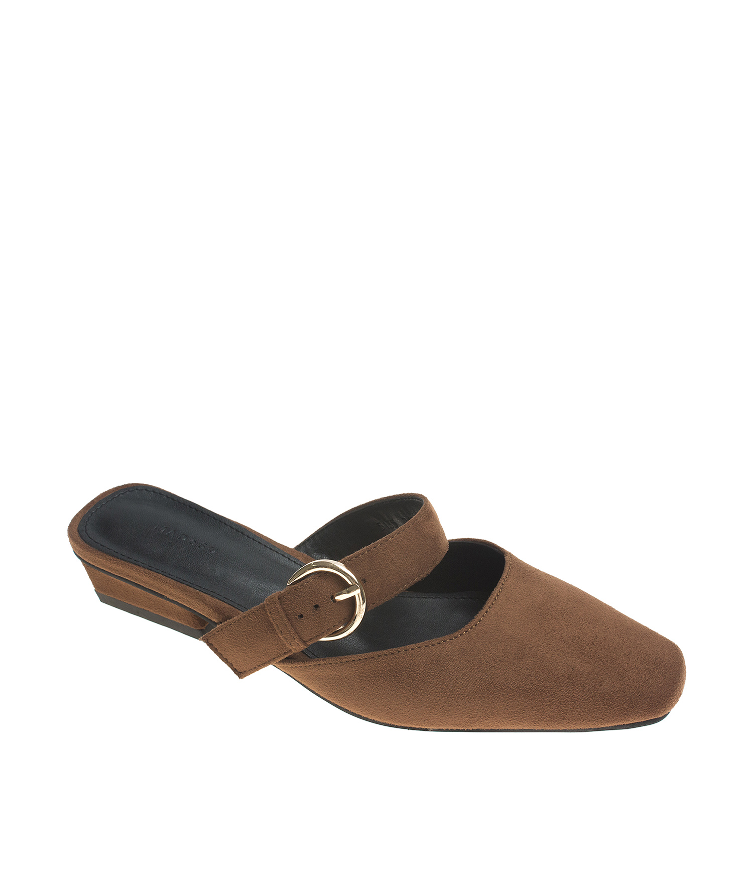 ca1b6db8996a AnnaKastle Womens Mary Jane Suede Mule Flats Brown