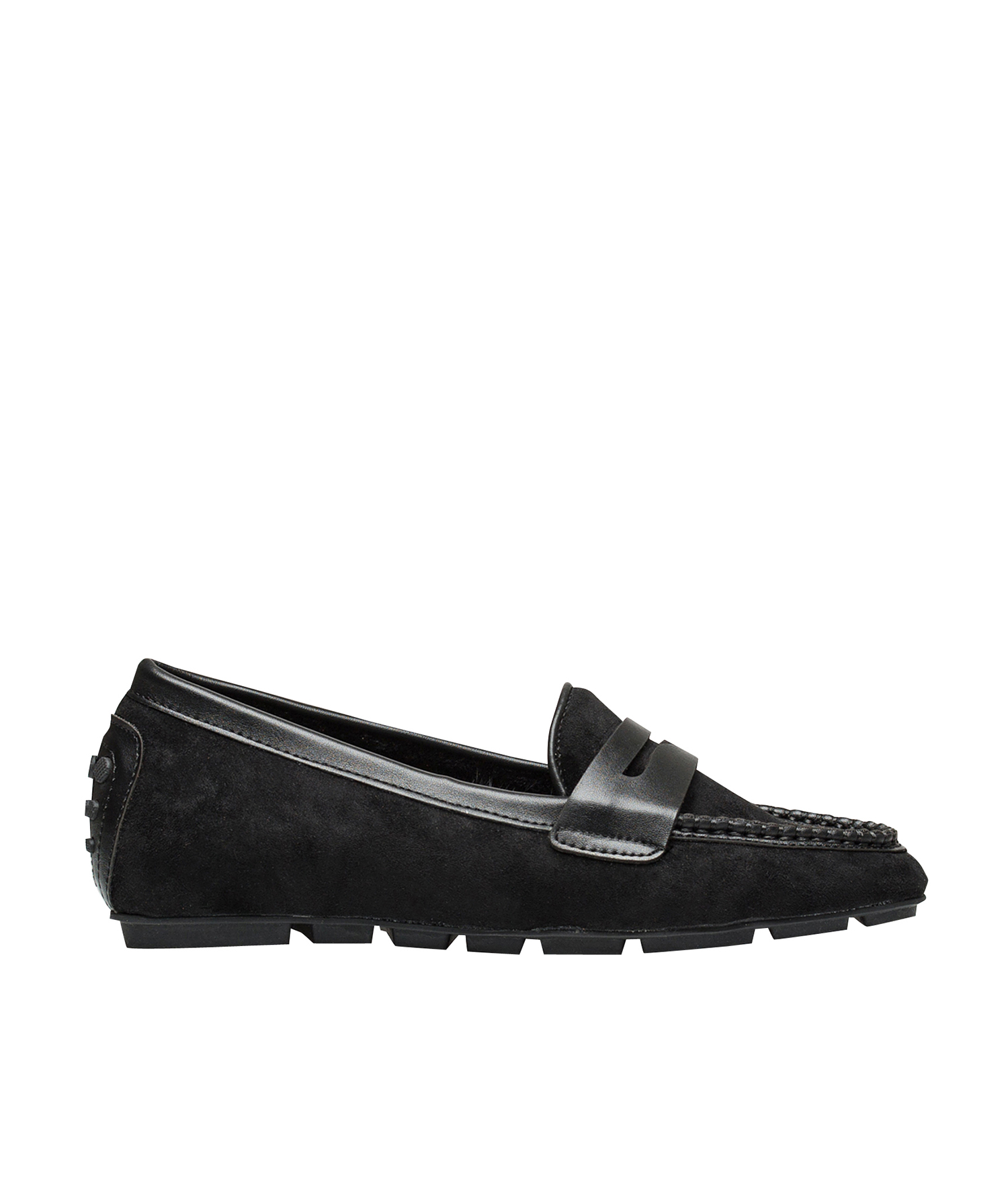 43389b390a8 AnnaKastle Womens Faux Fur Lined Driving Penny Loafers Suede Black