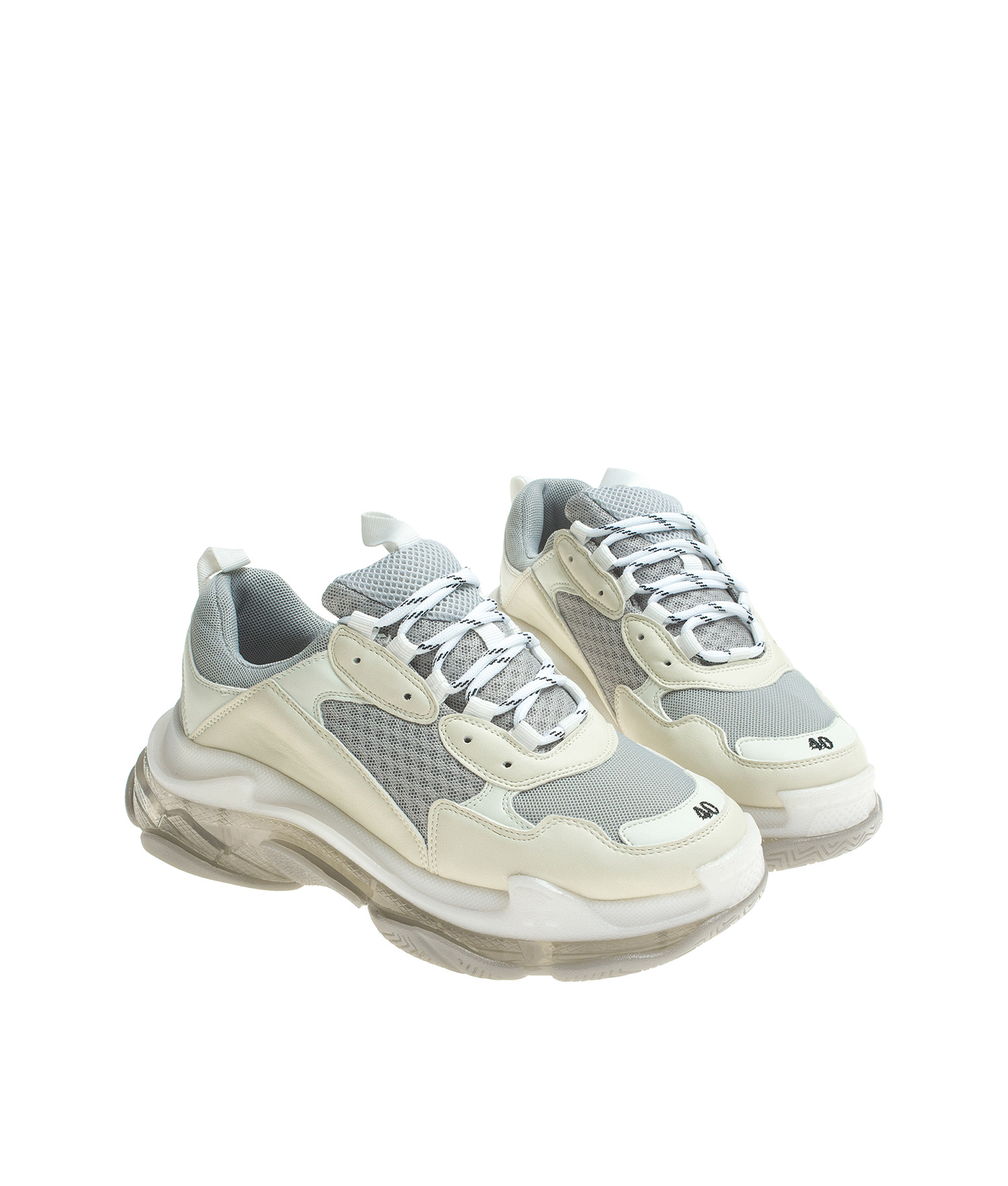 Low Top Chunky Clear Sole Trainers Annakastleshoes Com