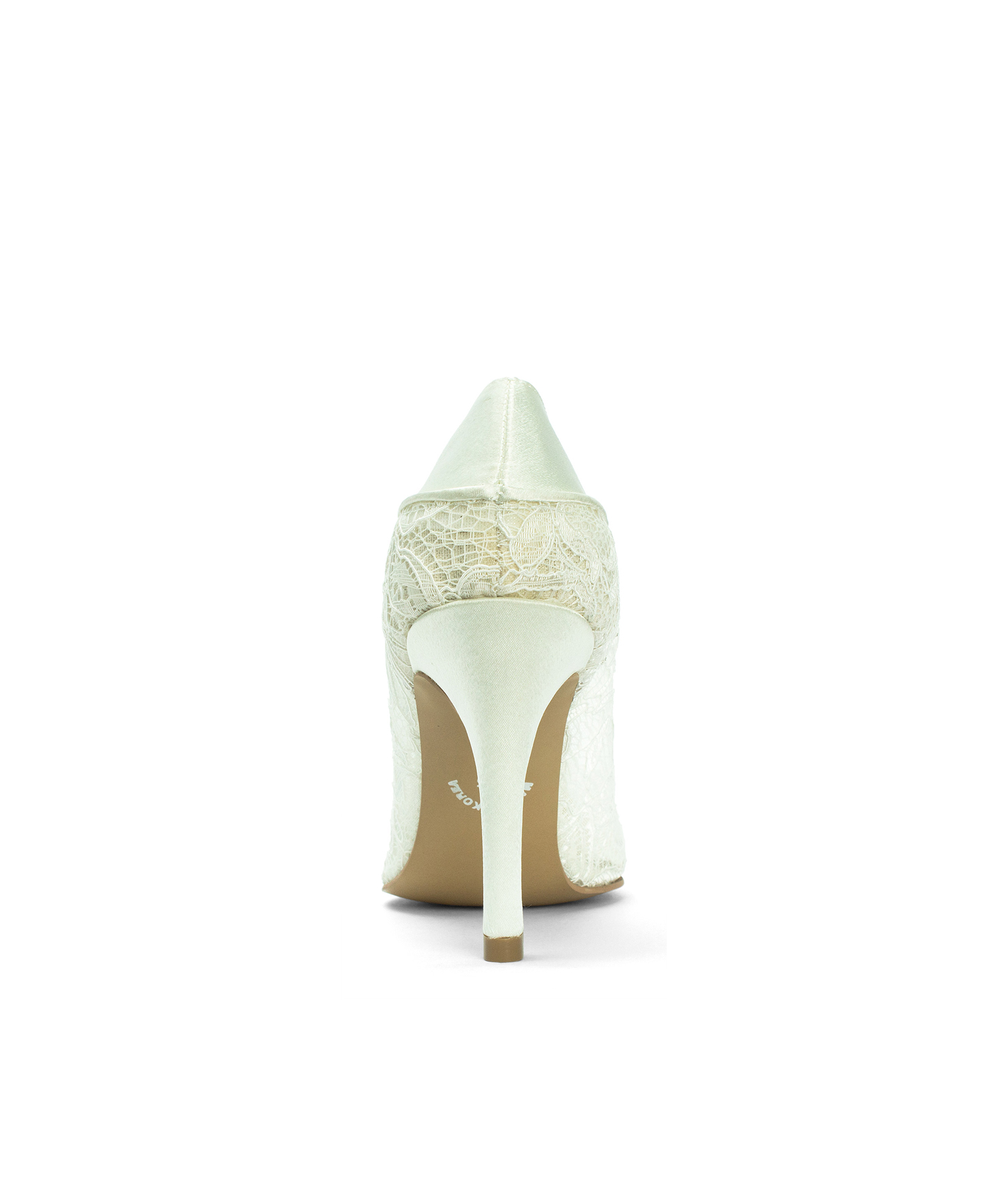 5a9033dafd6 Ivory Lace Wedding Heels with Satin Bow - annakastleshoes.com