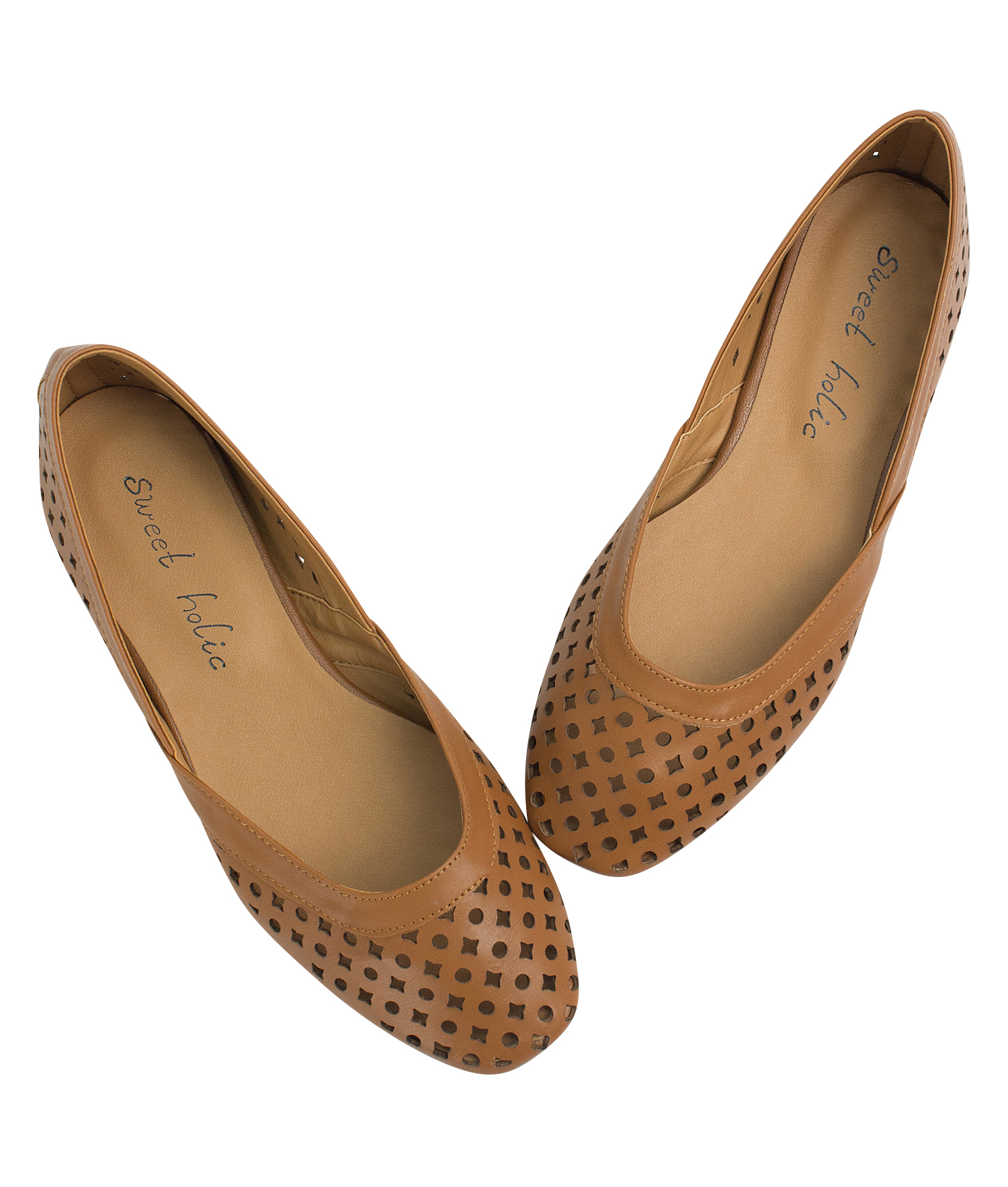 Geometric Cut Out Flat Shoes Flatshoes Annakastle Womens Brown