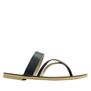 99857fcdc AnnaKastle Crisscross Toe Ring Flat Sandals Black AnnaKastle Crisscross Toe  Ring Flat Sandals Black