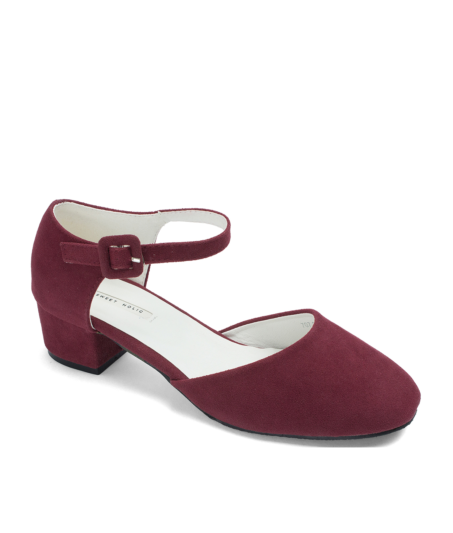6ca9c2aee Faux Suede d'Orsay Ankle Wrap Pumps - annakastleshoes.com