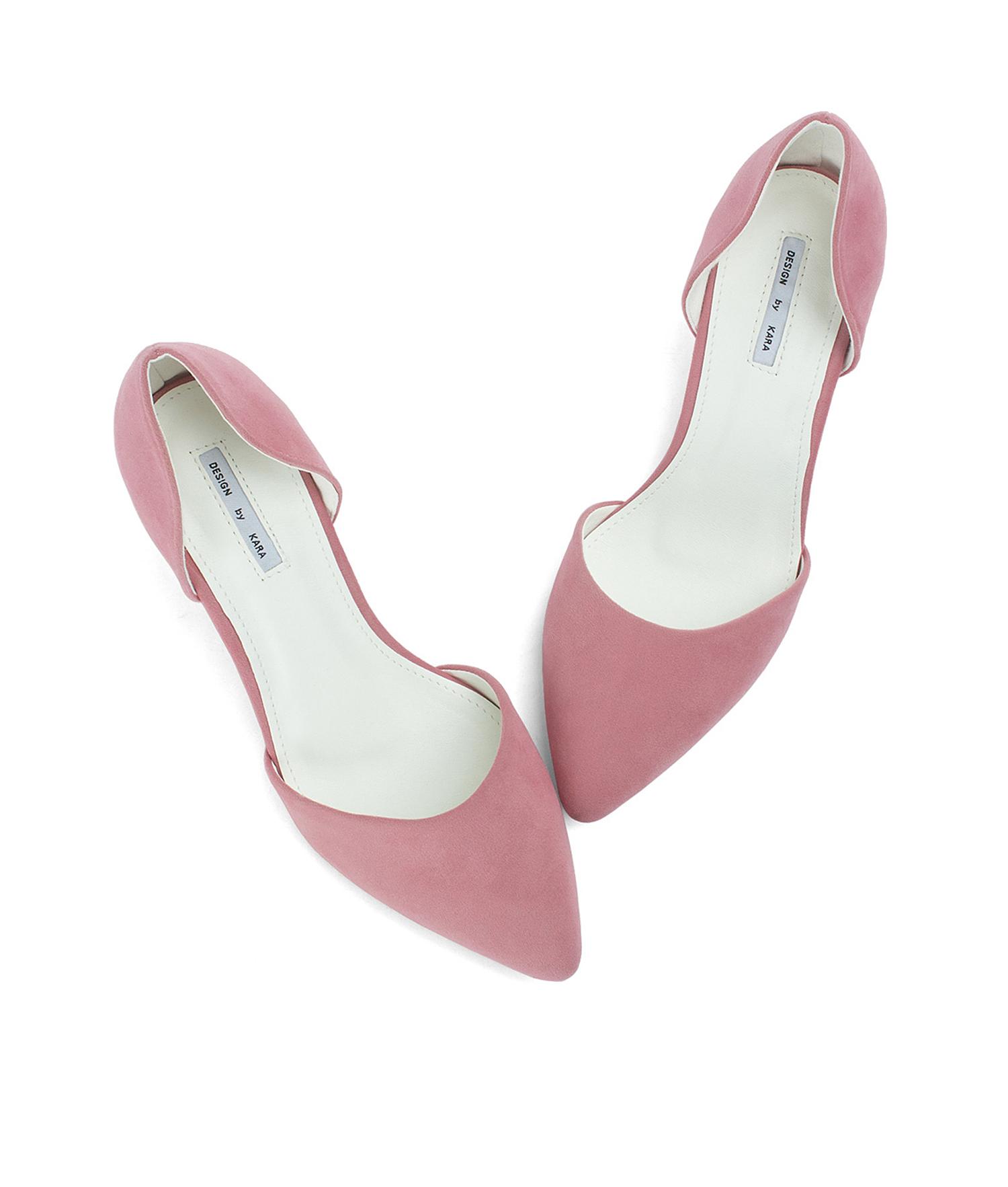 0db0186505f8 AnnaKastle Womens Faux Suede d Orsay Kitten Heels PinkSherbet