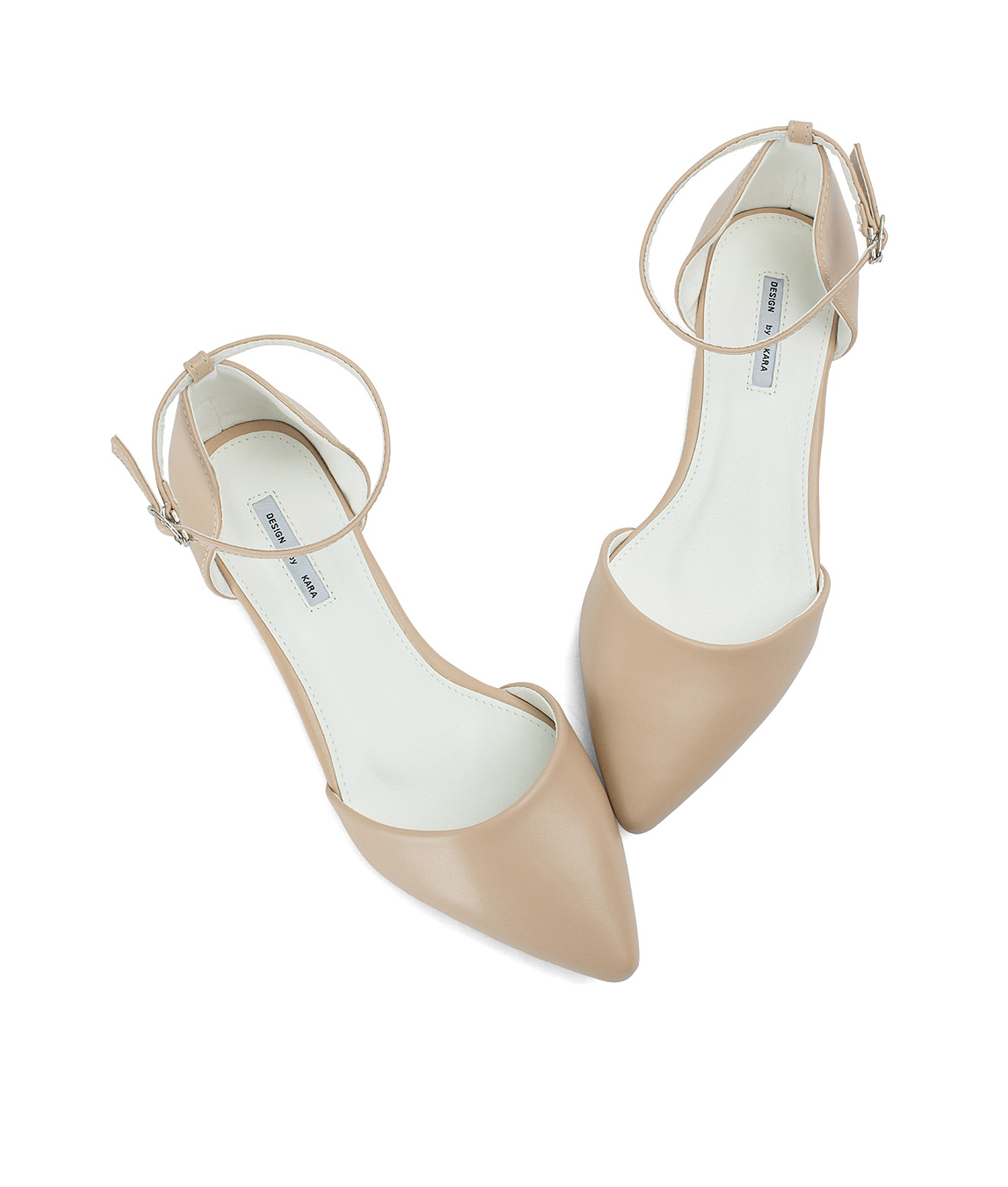 88b9ab517ed Pointed Toe Ankle Strap d'Orsay Flats