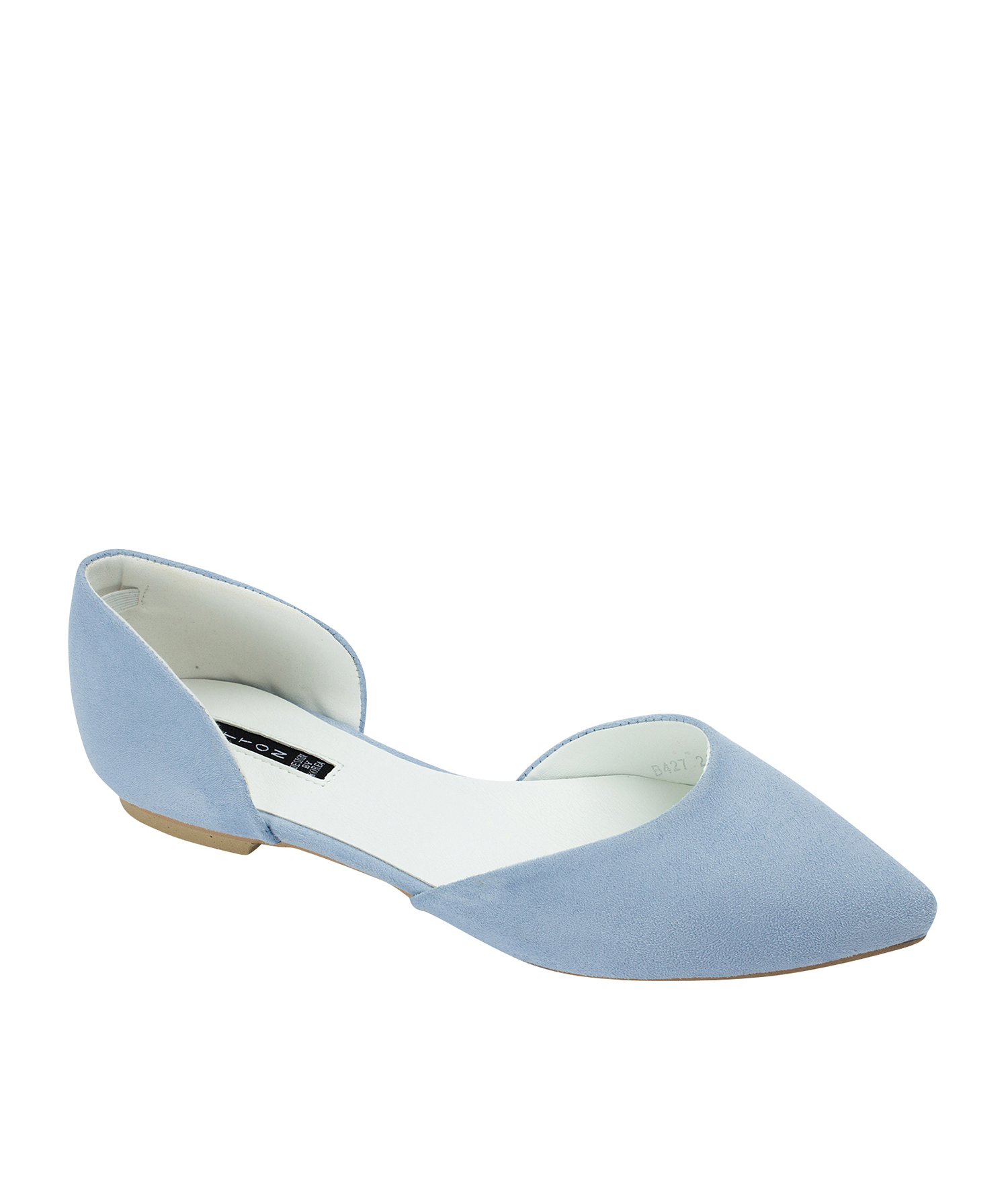 Pointed Toe Faux Suede d'Orsay Flats