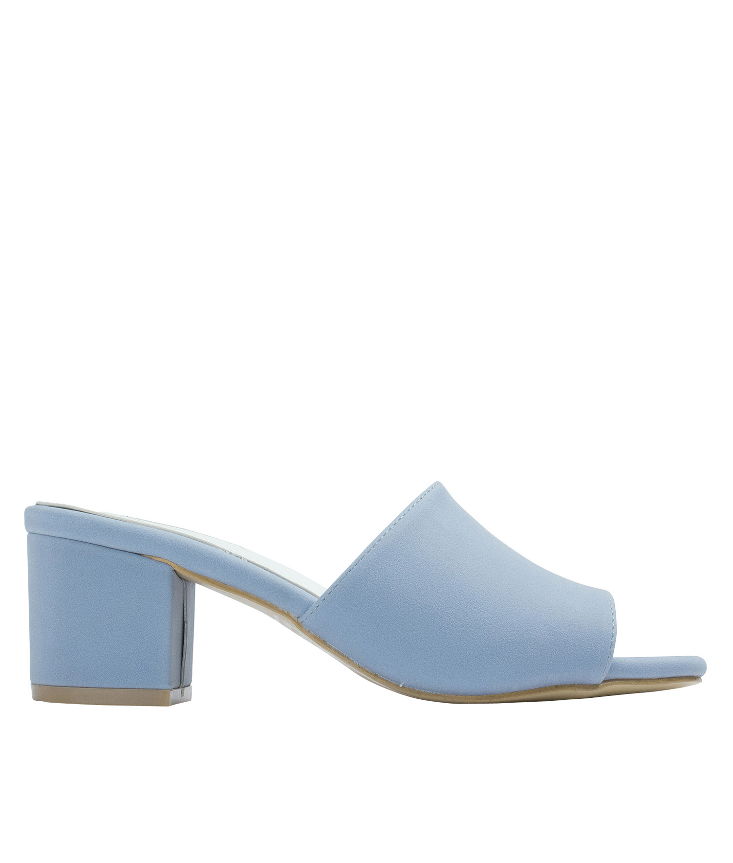ce3795cd8063 AnnaKastle Womens Faux Suede Open Toe Mules Light Blue