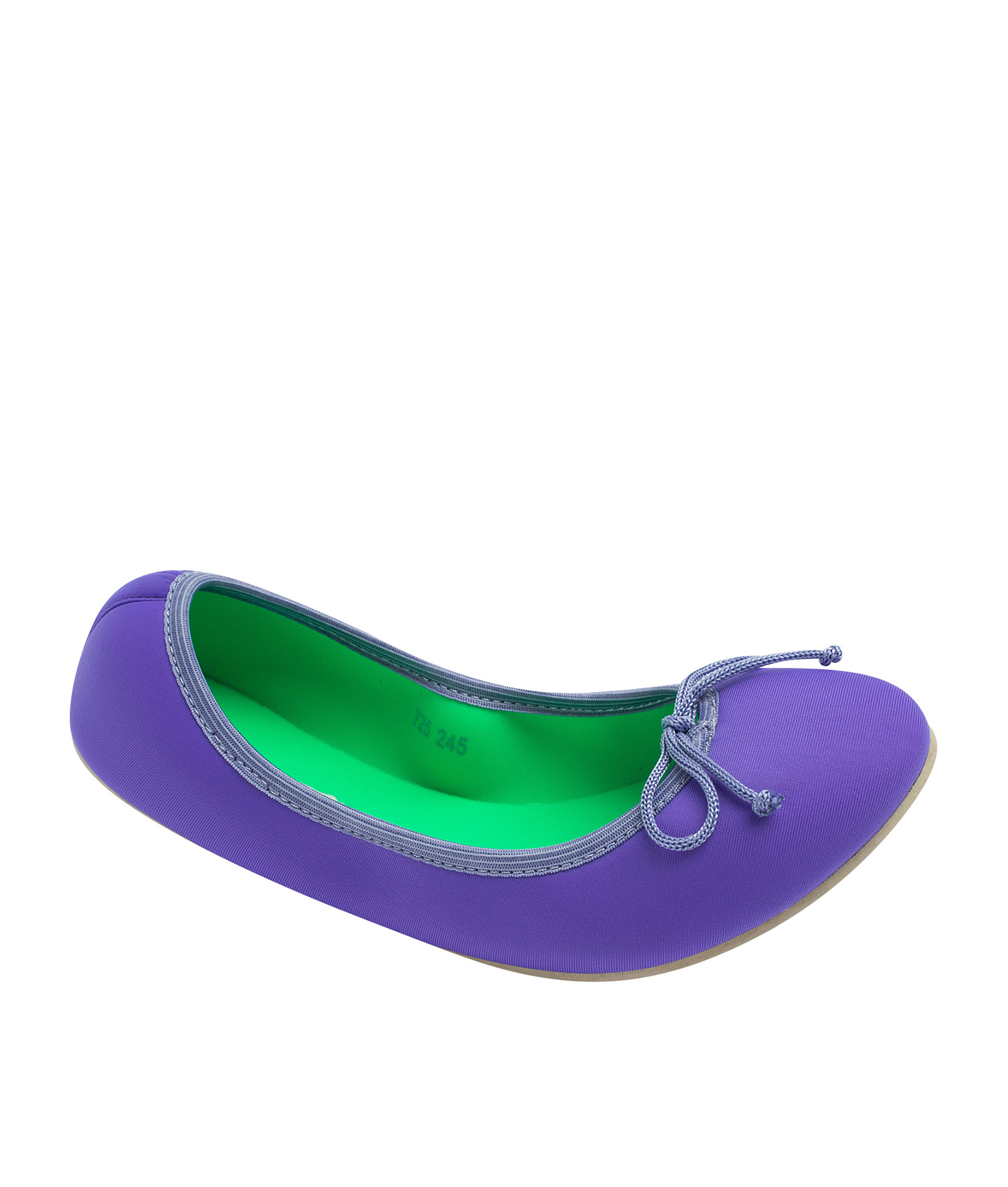 8a143b06928 AnnaKastle Womens Neoprene Foldable Ballet Flats Cool Colors Violet