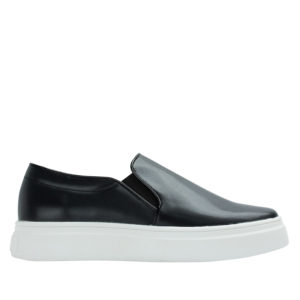 4b398b8246 Annakastle Womens Classic Faux Leather Slip-On Sneakers Black