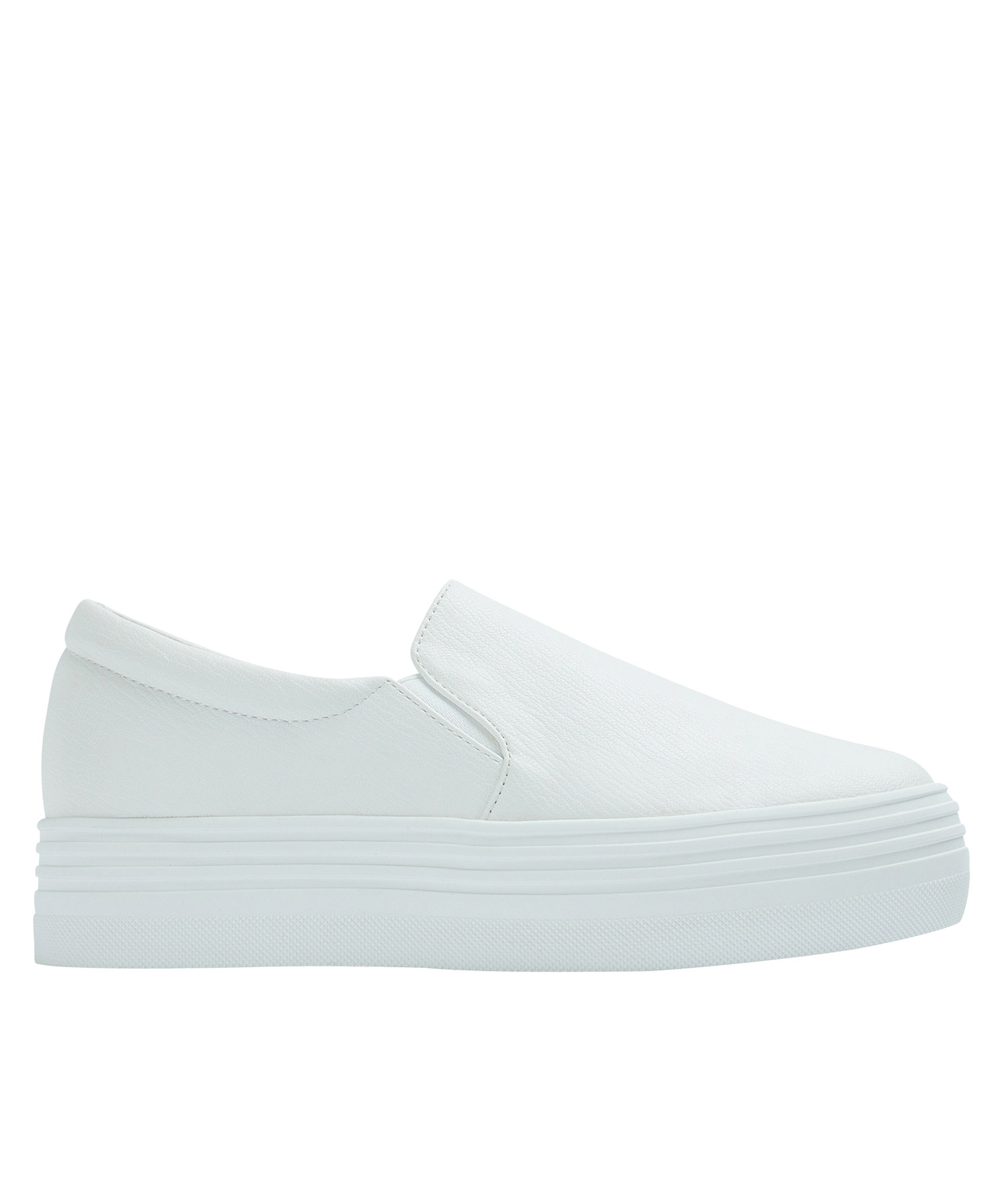 Slip On White Shoes Faux Leather  Womens Sneaker