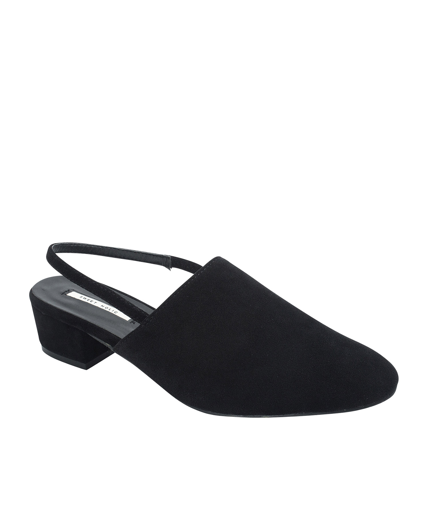 AnnaKastle Womens Faux Suede Slingback Mules Black 1a512d2667