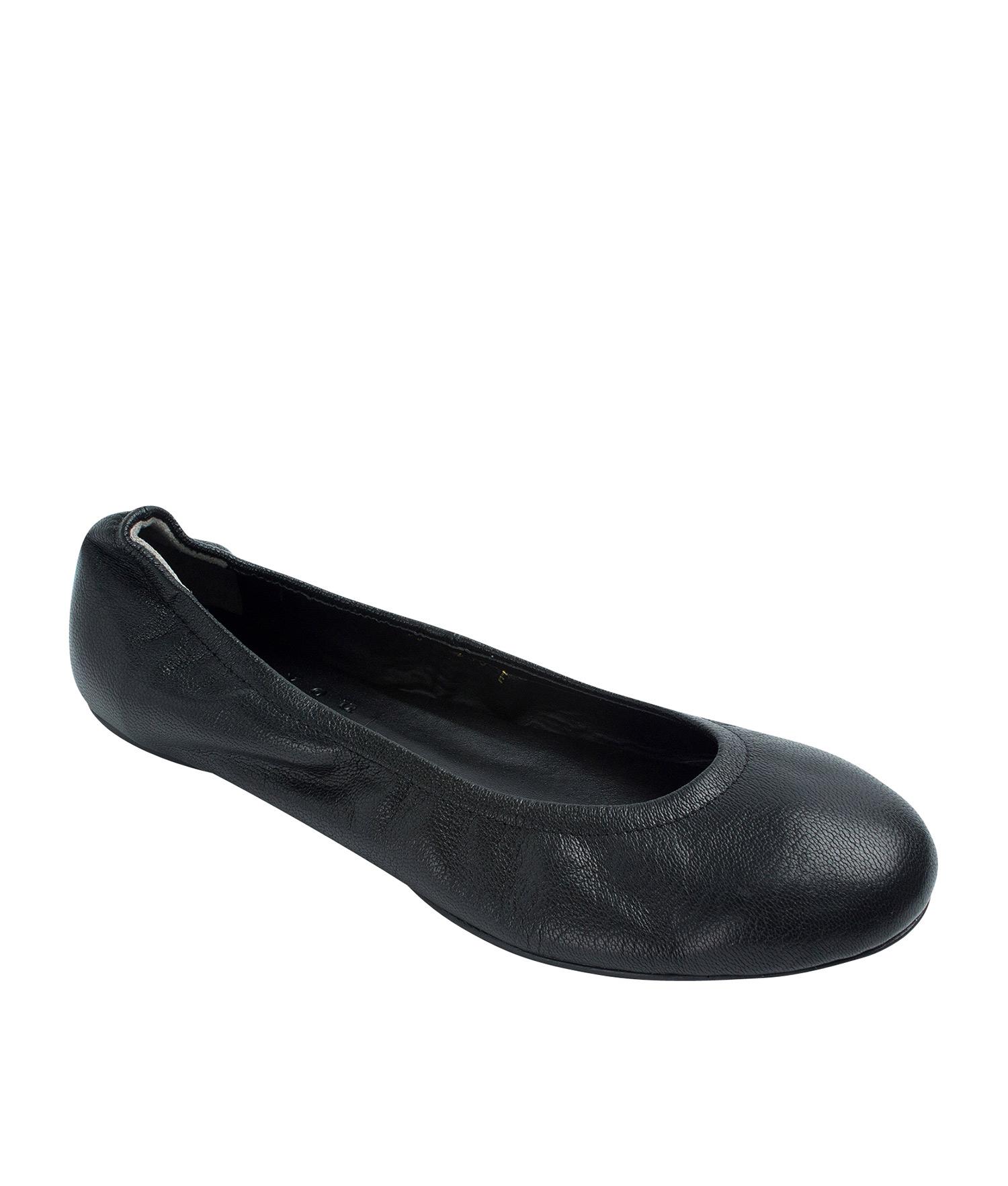 420c121cae954 Genuine Leather Elastic Ballerina Flats