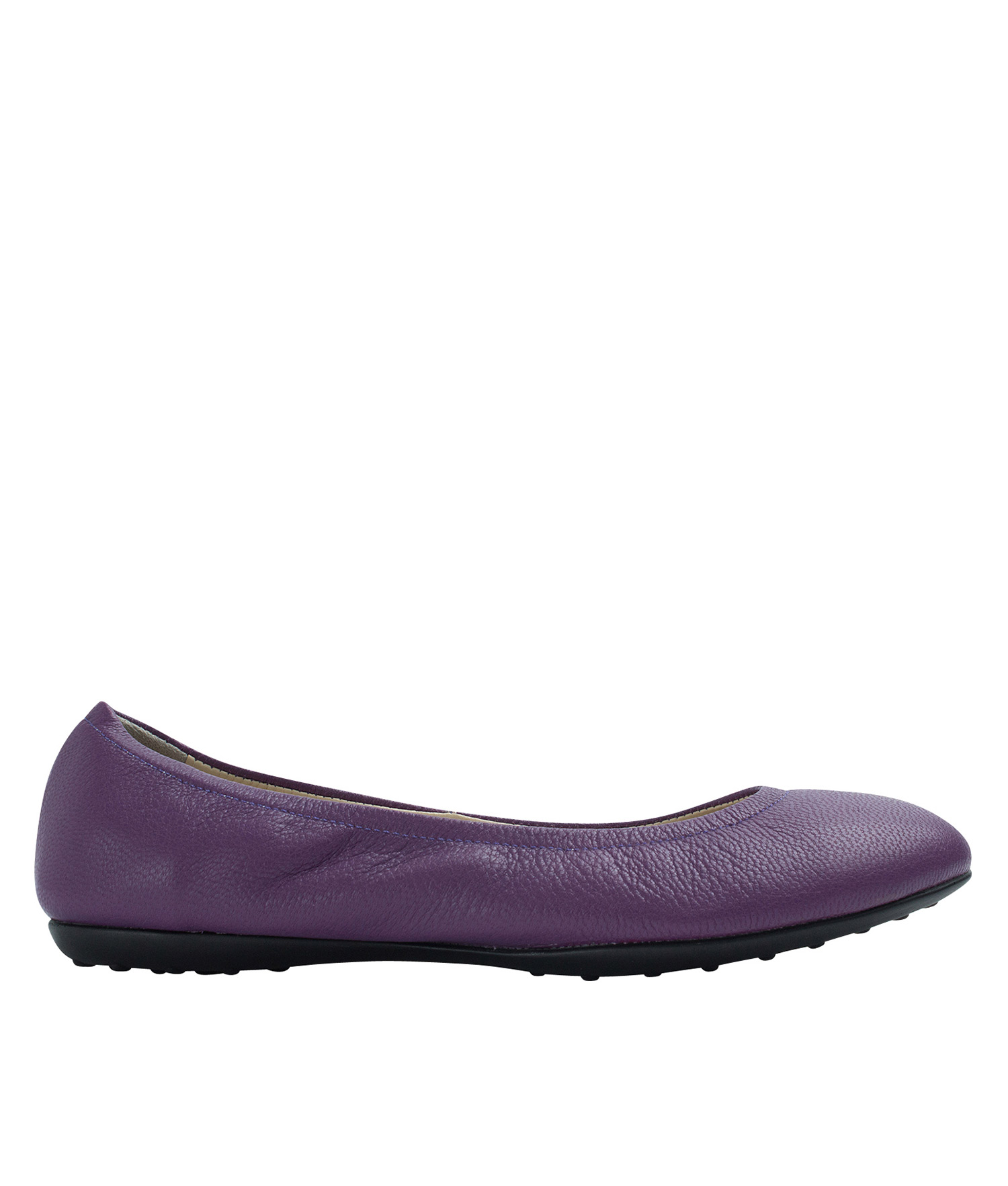 7416cf168d03 Annakastle Womens Genuine Leather Elastic Ballerina Flats Purple