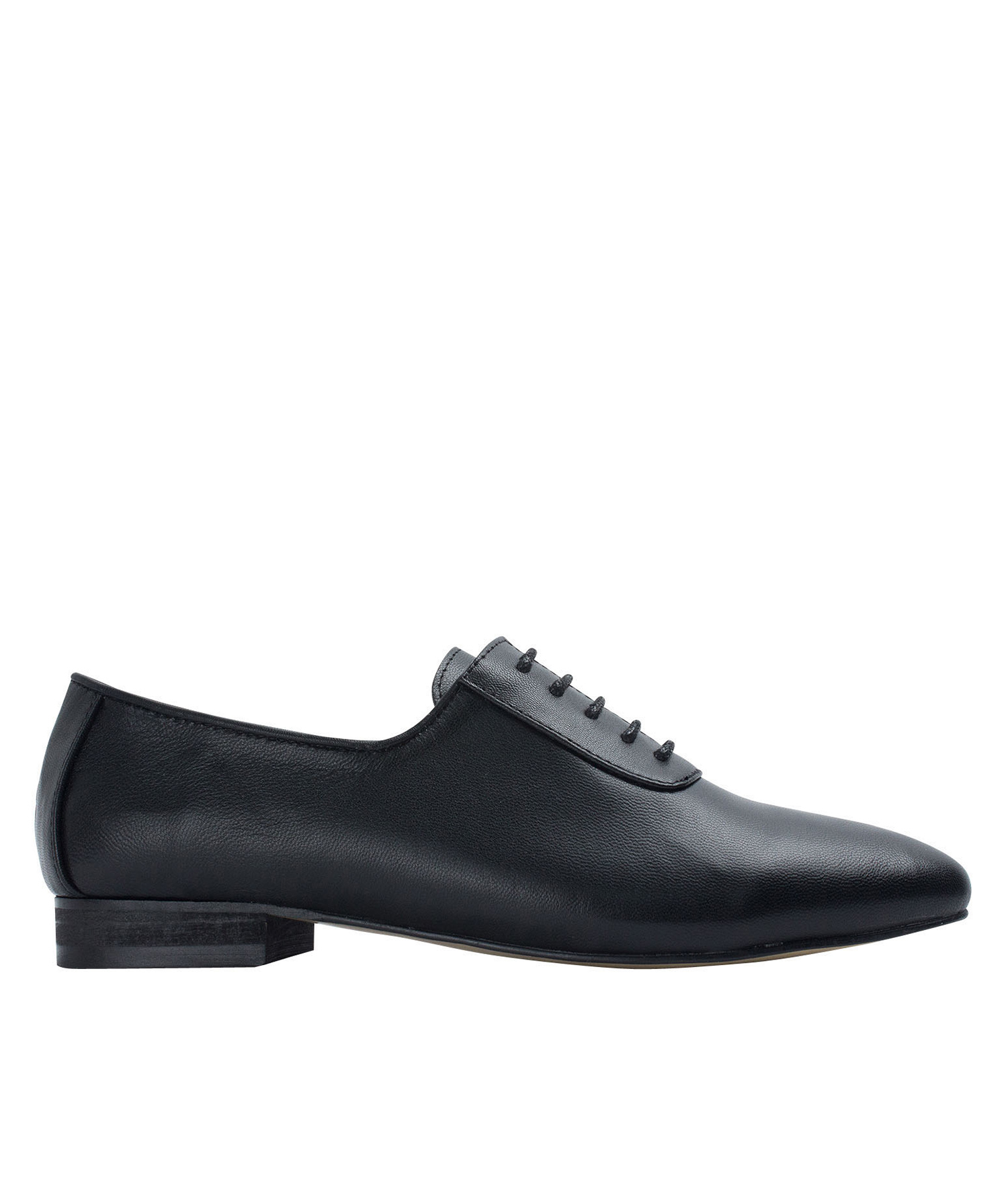 3aabaad81e AnnaKastle Womens Sleek Leather Lace-Up Oxfords Black