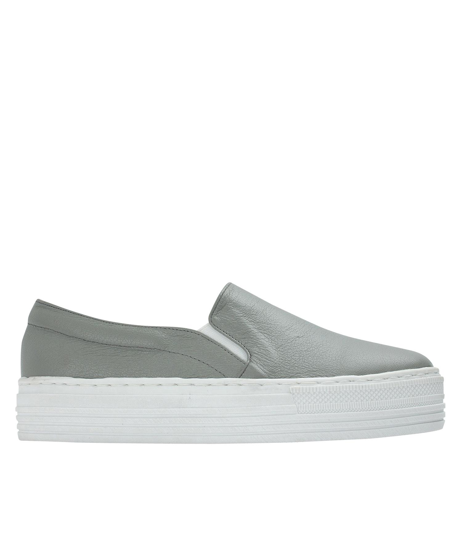 Leather Platform Leather Slip Slip Sneakers Platform On xoWdBeQrC