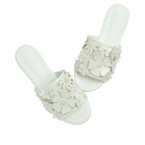 c5f6090bf8079 Annakastle Womens Beads Flower Embellished Sandals White
