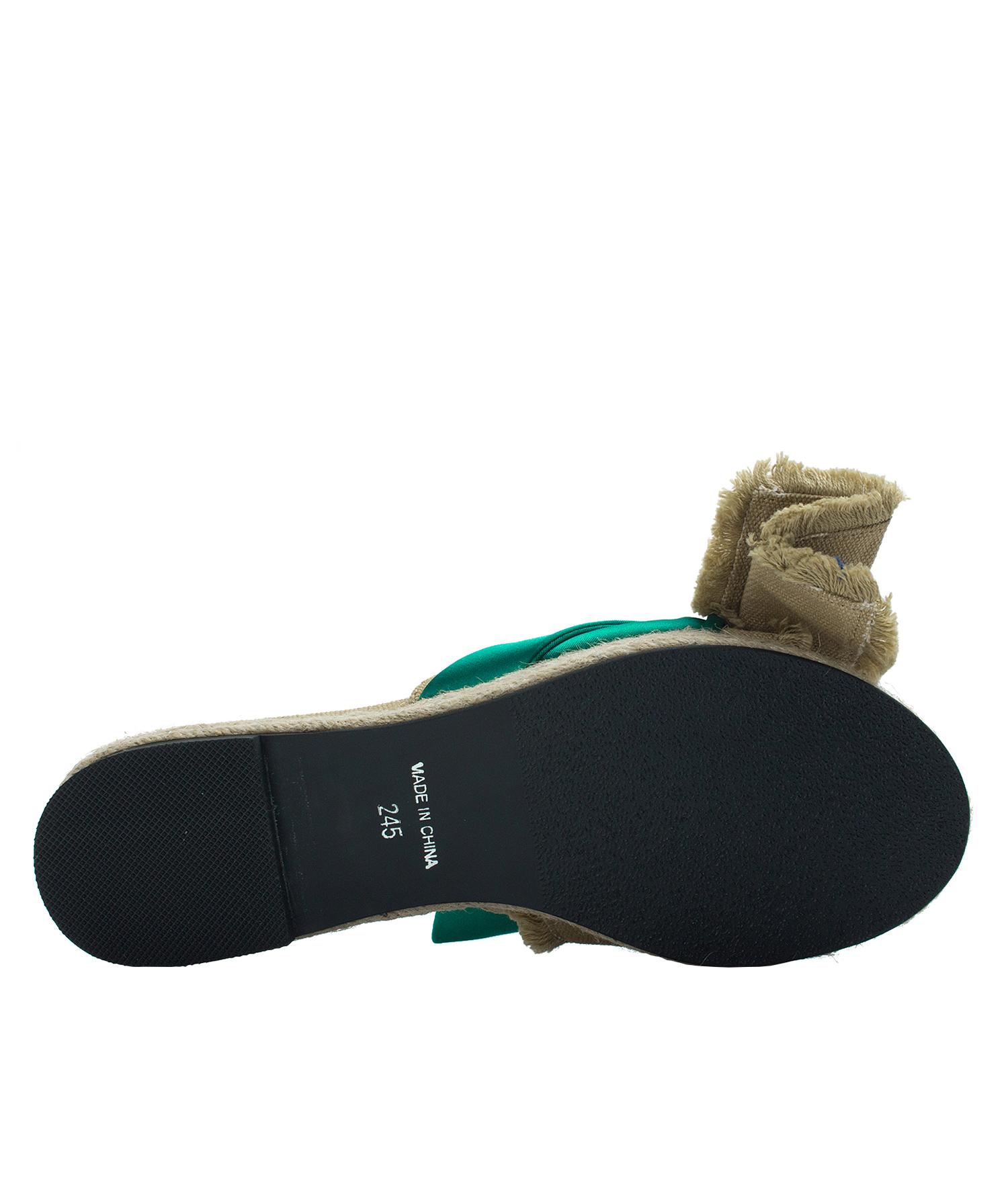7b38c5cf83f Annakastle Womens Natural Bow Jute Platform Sandals Green + Khaki