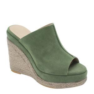 775219512c9 Faux Suede Espadrille Wedge Mule Sandals
