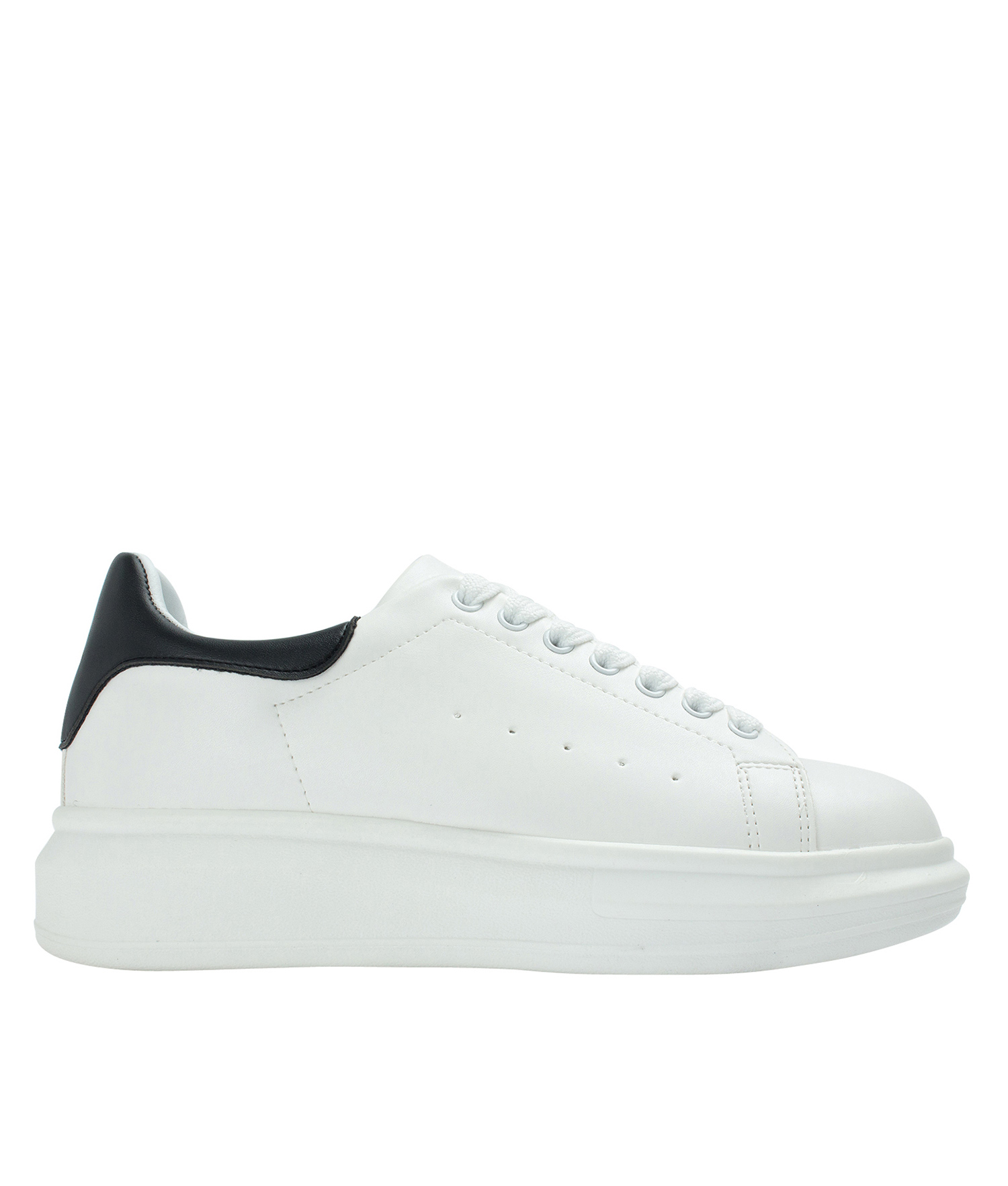 Faux Leather Chunky Sole Sneakers