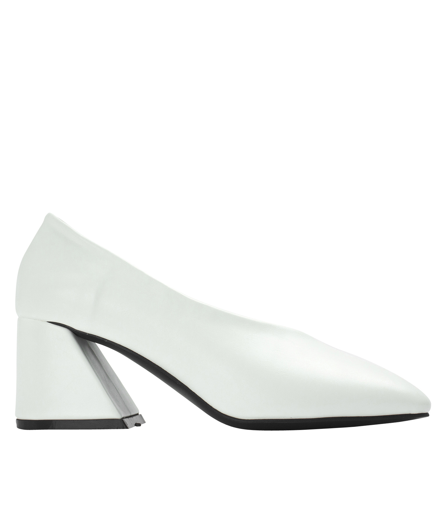 3007811cdc Annakastle Womens Flared Block Heel Pumps White