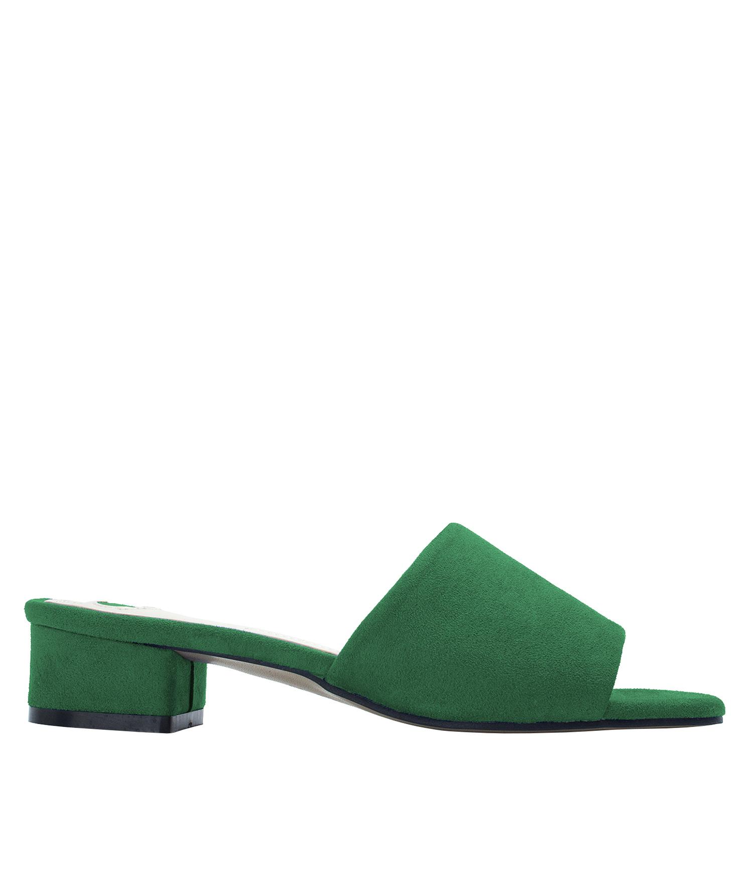 e86eb1de60a50 Annakastle Womens Faux Suede Slide Mule Sandals Green