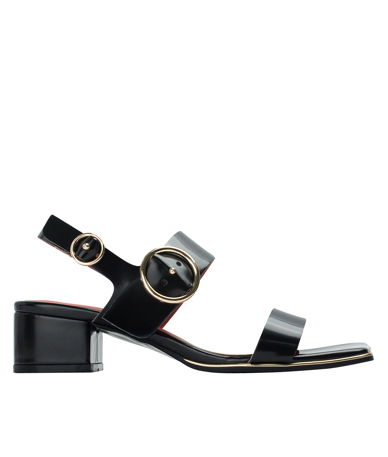 640151dd428 AnnaKastle Womens Block Heel Slingback Sandals Black