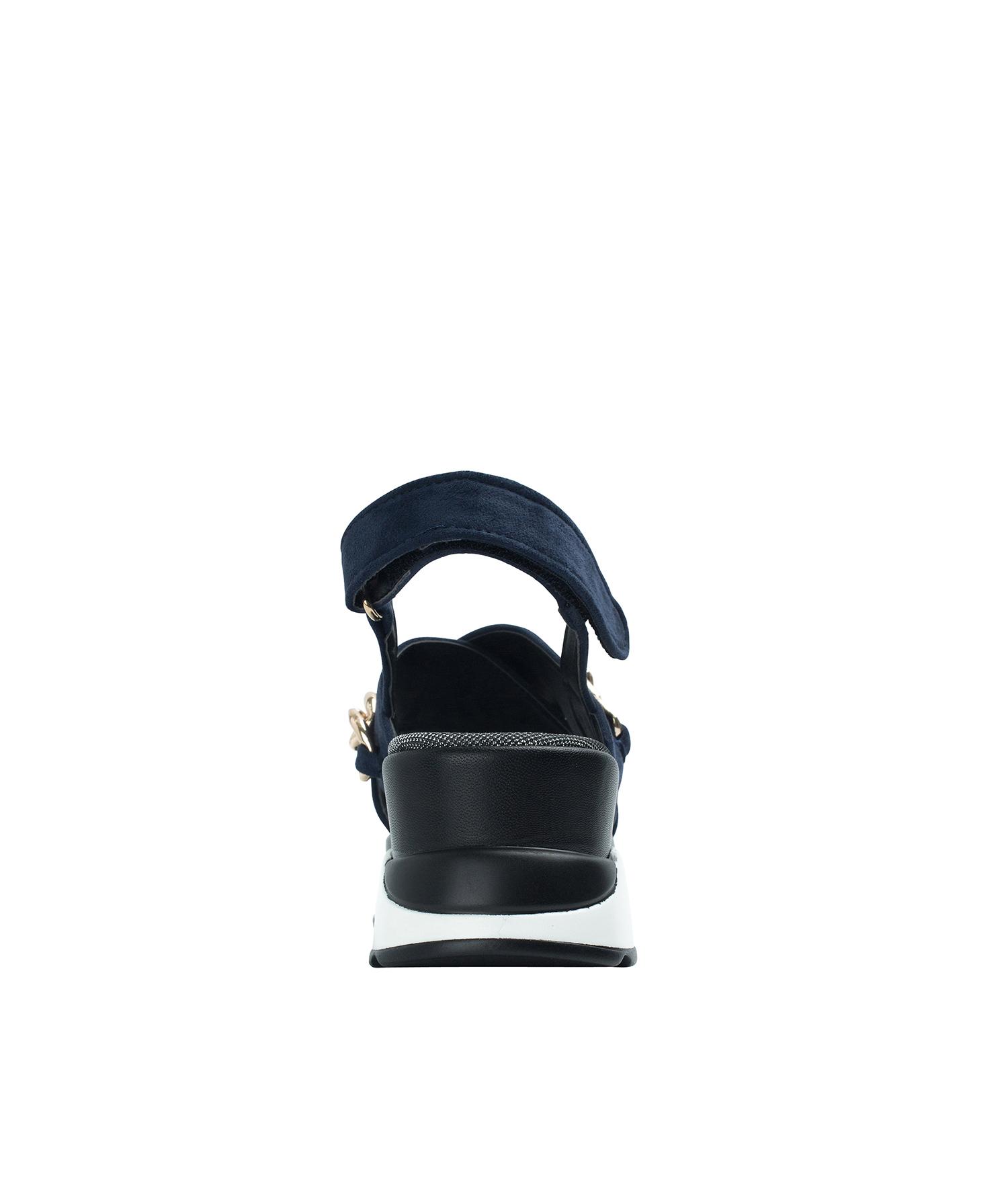 5bd02cbd31e AnnaKastle Womens Criss Cross Chain Sporty Sandals Navy