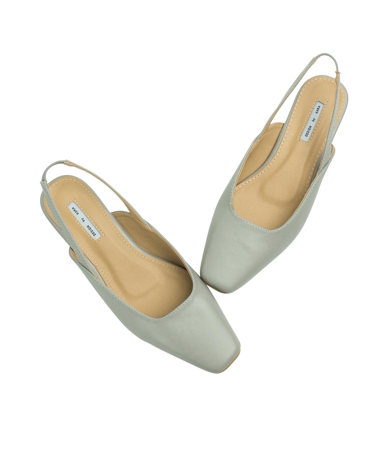 6a8abe66ed2 AnnaKastle Womens Square Toe Ballet Slingbacks Grey