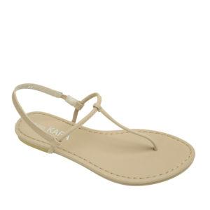 2f9f74584 AnnaKastle Womens T-Strap Thong Flat Sandals Beige ...