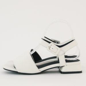 2909530f5ad AnnaKastle Womens Vegan Leather Single Strap Sandals White