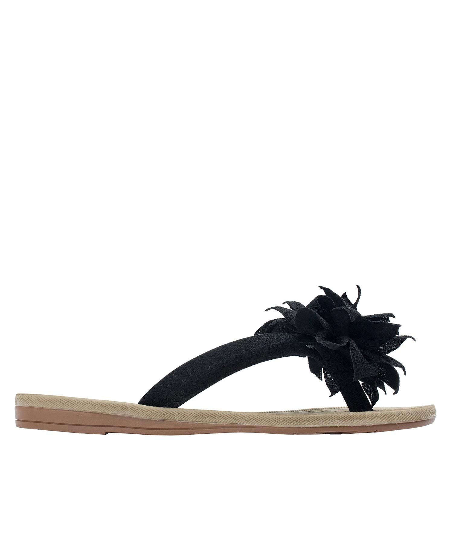 dd03027ea0dd1 AnnaKastle Womens Big Flower Flip Flops Beach Sandals Black
