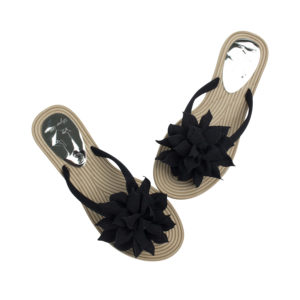 0de15dddf AnnaKastle Womens Big Flower Flip Flops Beach Sandals Black