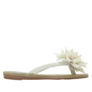 3e8103eecfa42 AnnaKastle Womens Big Flower Flip Flops Beach Sandals Ivory