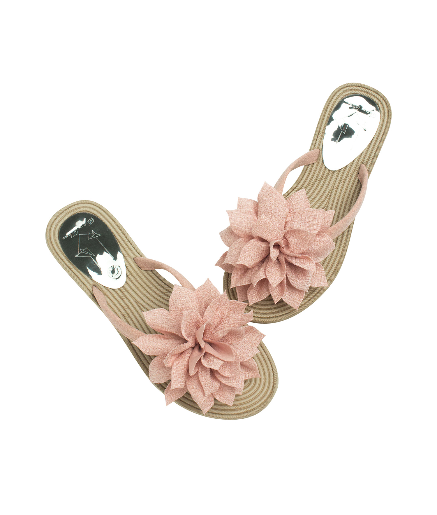 6621a7851 AnnaKastle Womens Big Flower Flip Flops Beach Sandals Tulip