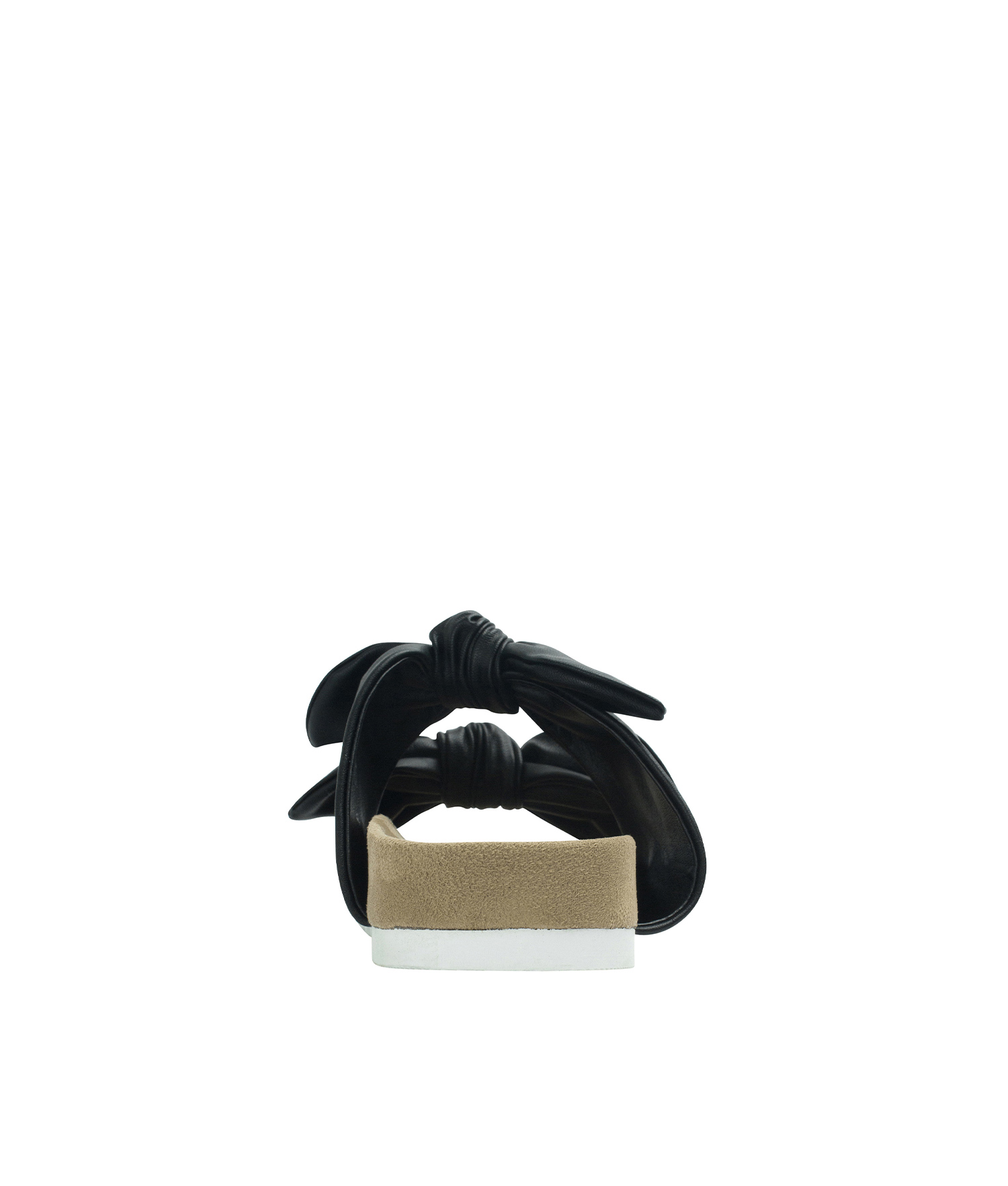 20ffca6c2 AnnaKastle Womens Double Knotted Bow Slide Sandals Black